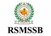 RSMSSB Junior Instructor Answer Key